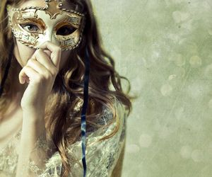 mask, girl, and masquerade image