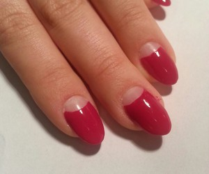 Dita von Teese, red, and gel nails image