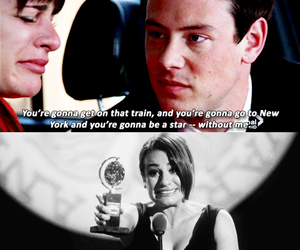 glee, rip cory, and michel image