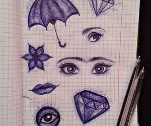 art, eyes, and mouth image