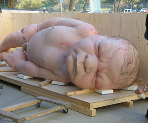 art, Ron Mueck, and scupture image
