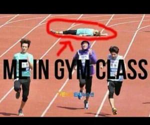 gym, funny, and me image