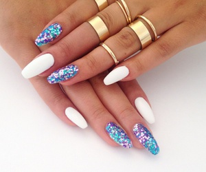 glitter, manicure ideas, and manicure image