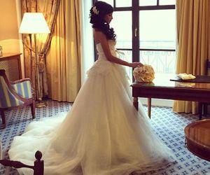 girl, wedding, and love image