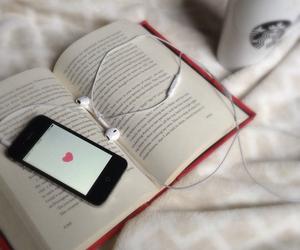 book, music, and starbucks image