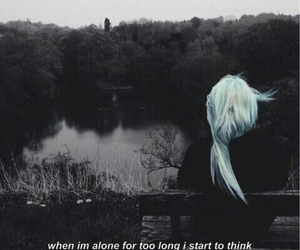 alone, dark, and grunge image