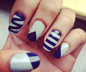 beauty, blue, and nailsart image