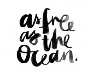 ocean, quote, and free image