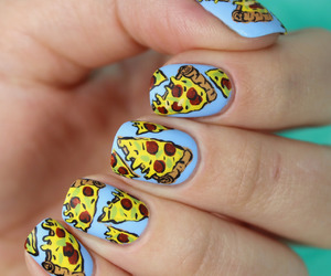 pizza and nails image