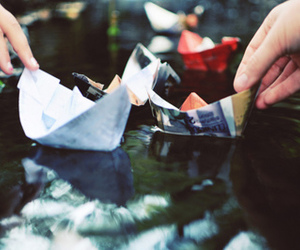 boat, water, and photography image
