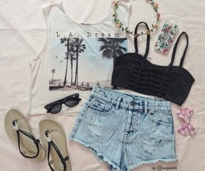california, clothes, and floral image