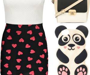 dress, fashion, and panda image