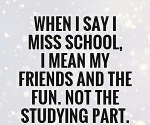 miss, school, and friends image