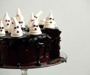 cake, chocolate, and ghost image
