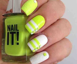 nails, nail art, and neon image