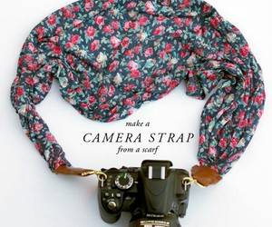 camera, scarf, and diy image