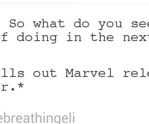 Avengers, quotes, and funny image