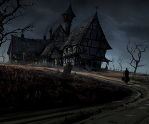 house, dark, and road image