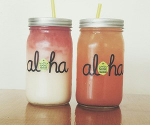 drink, Aloha, and lemonade image