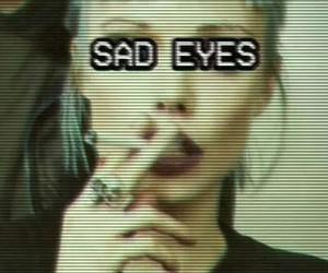 sad, grunge, and sad eyes image