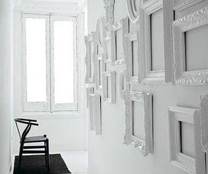 white, frame, and decor image