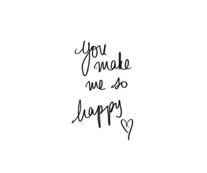 happy, quotes, and overlay image