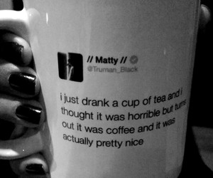 coffee, the 1975, and matty healy image