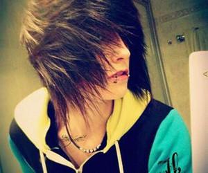 boy, emo, and hair image