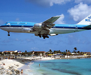 beach, airplane, and summer image