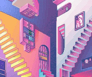 aesthetic and pixel image