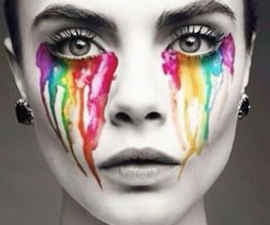 model, cara delevingne, and colors image