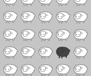 sheep, black and white, and black image