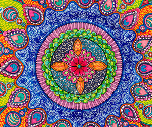 mandala, background, and colorful image