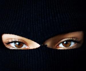 eyes, girl, and black image
