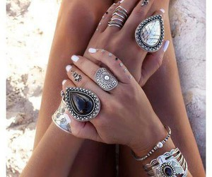 silver, summer, and statement ring image