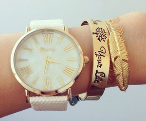 watch, accessories, and gold image