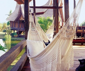 summer, relax, and hammock image