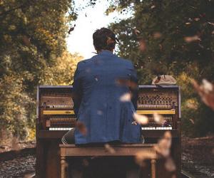 piano, music, and nature image