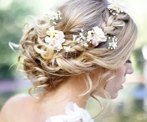 beautiful, floral, and bride image