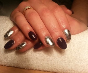 lovely, purple, and gel nails image