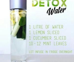 detox, detox water, and lemon image