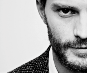 black and white, Jamie Dornan, and fifty shades image