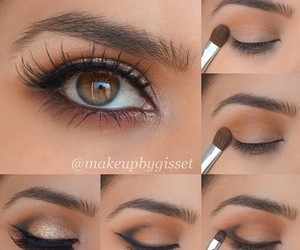 makeup, eye makeup, and eyes image