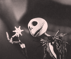 black & white, nightmare before christmas, and black and white image
