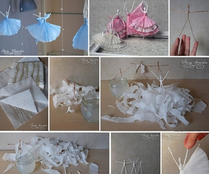 diy, ballerina, and napkin image