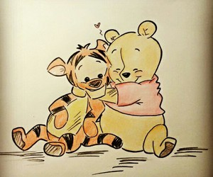 drawing, adorable, and winnie the pooh image