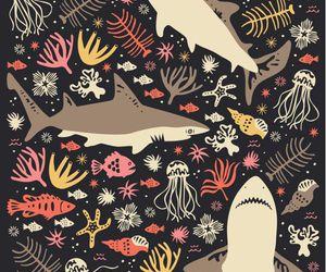 shark, fish, and art image