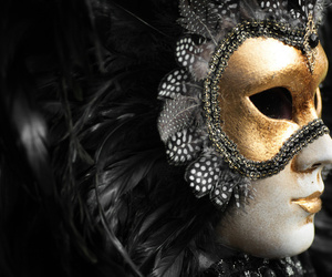 beauty, gold, and mask image