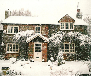 cottage, house, and snow image