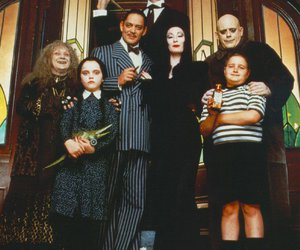 the addams family and black and white image